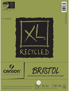 canson recycled bristol paper best paper for drawing portraits in graphite