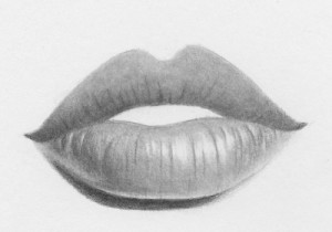 how to draw lips step by step 12