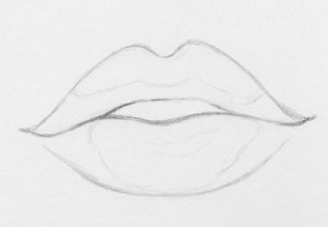 how to draw realistic lips 6