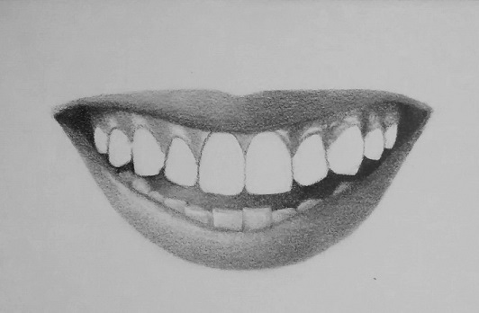 How to Draw Teeth and Lips - 7 Easy Steps | RapidFireArt Pencil Drawings Of Lips Smiling