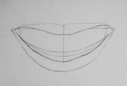 how to draw teeth step 2