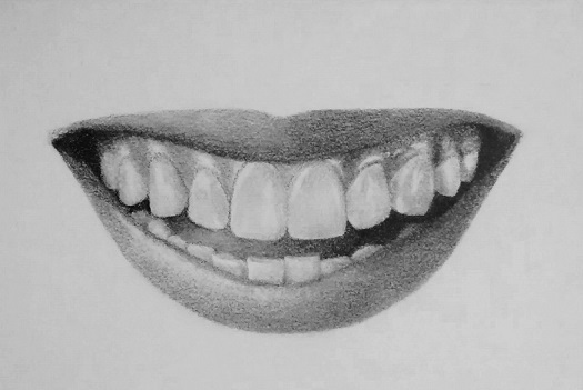 Lips Sketch Steps How to draw teeth and ...