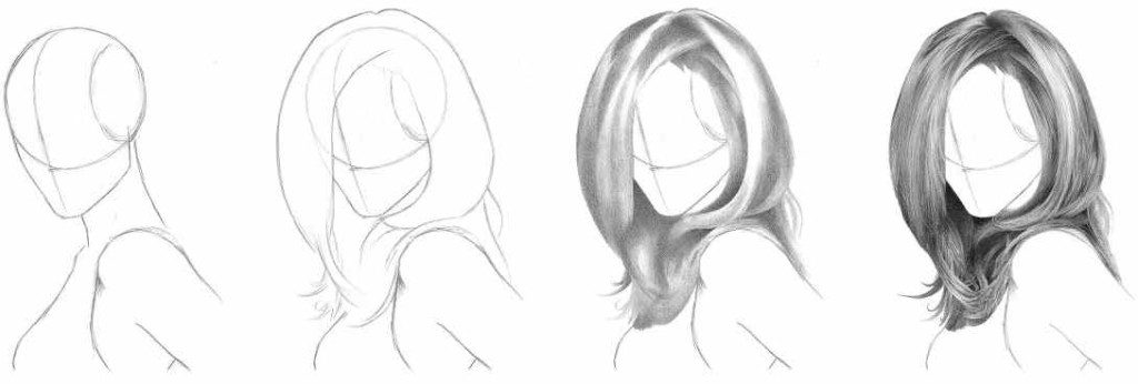 How to Draw Realistic Hair: Easiest Way! | RapidFireArt