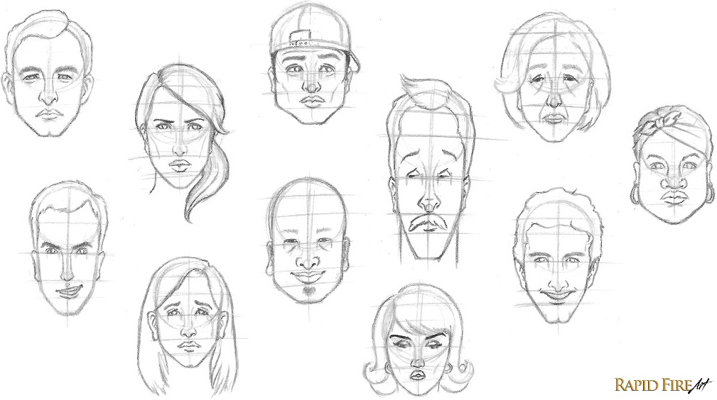 Experiment on how to draw faces
