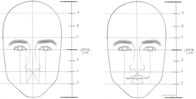 How to draw faces step 6