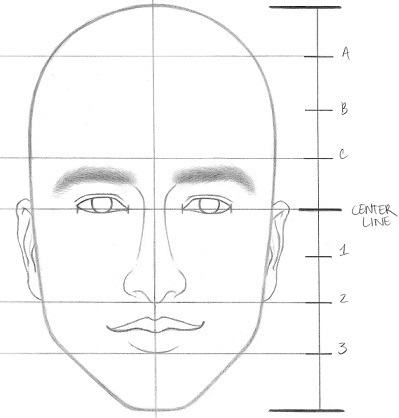How to draw a face with ears step 7