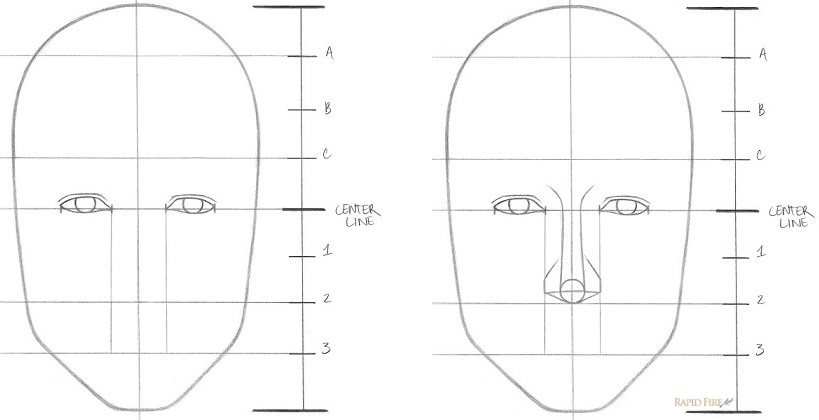 Learn how to draw a face in 8 easy steps beginners rapidfireart how to draw faces step 4 ccuart Image collections