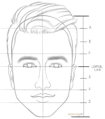 How to draw a face step by step step 8