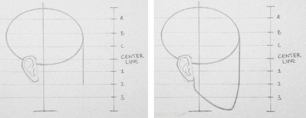 How to draw a face from the side 10 steps rapidfireart draw side face step 4 face and jaw ccuart Image collections