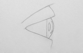 drawing eyes from the side step 5