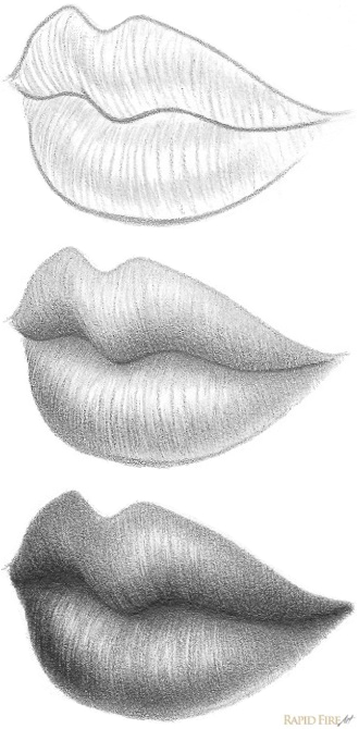 Step 8 how to draw three quarter lips