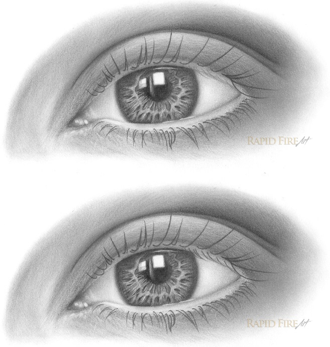 how to draw eyelashes step 5