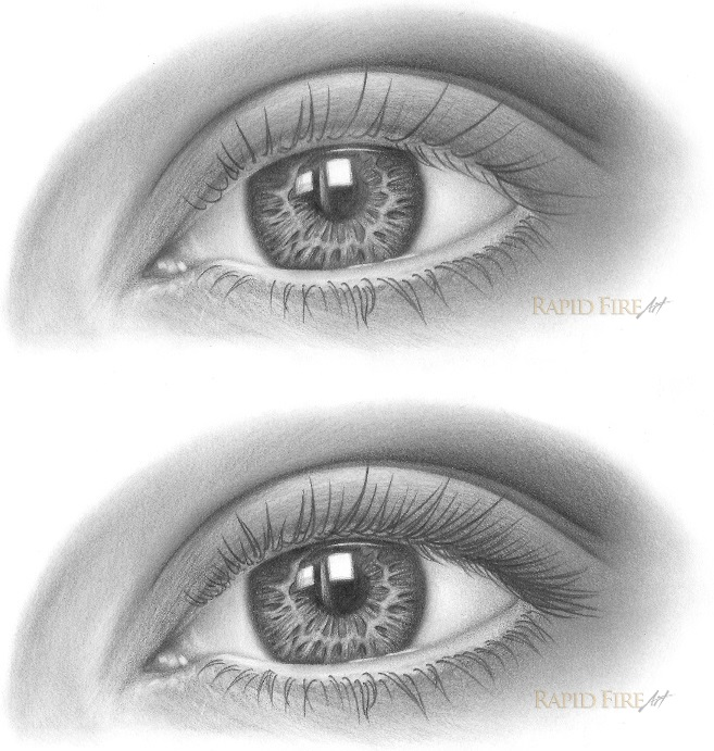 how to draw eyelashes step 6