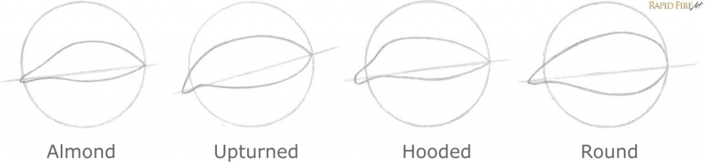 How to Draw Different Eye Shapes 5 RFA