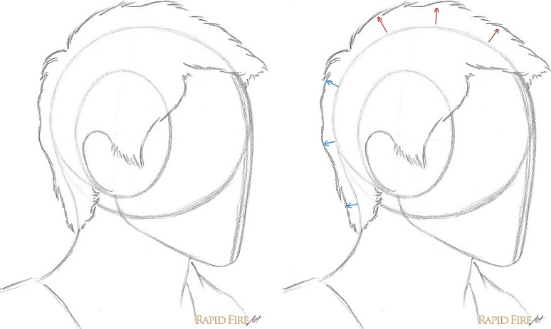 How To Draw Short Hair Very Detailed Rapidfireart