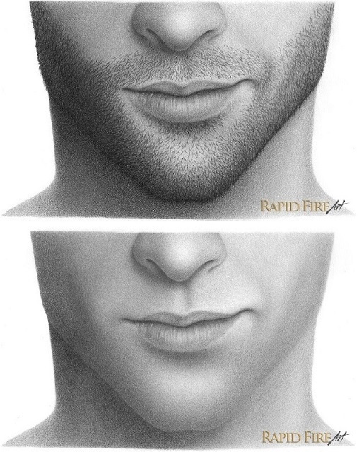 how to draw stubble