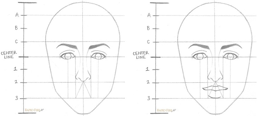 How to draw a female face step 6