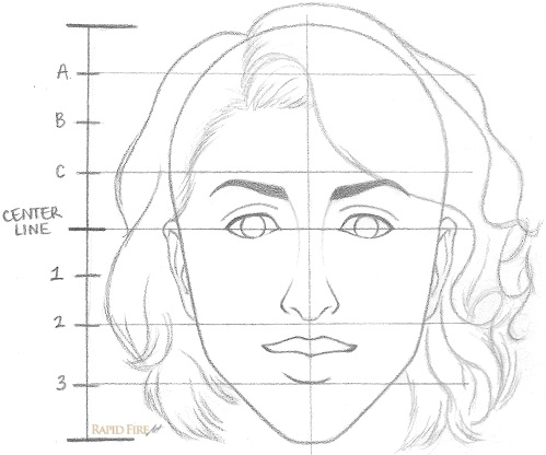How to Draw a Female Face Step 8