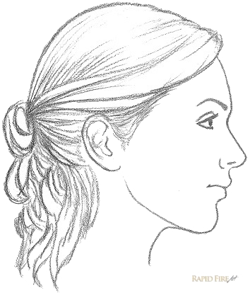 How to draw a female face from the side view step 11 2