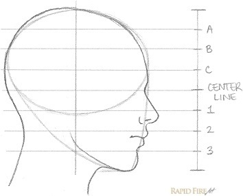 How to draw a female face (side view) | RapidFireArt