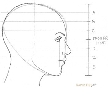 How to Draw a Female Face from the Side View Step 9_2