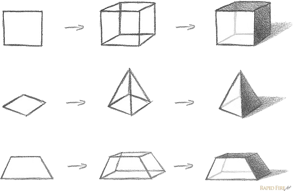 How to Draw Form_3D objects with shadows