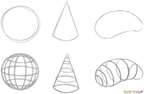 How to draw 3D shapes_Contour Lines