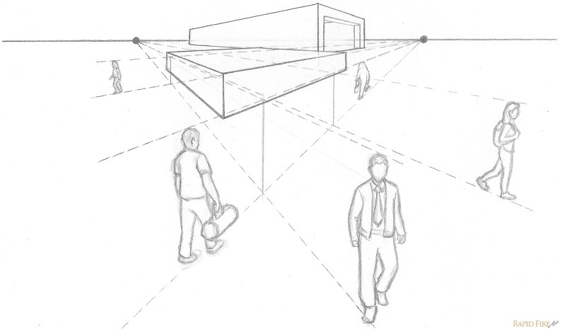 Lesson 6 Introduction To One And Two Point Perspective Rapidfireart