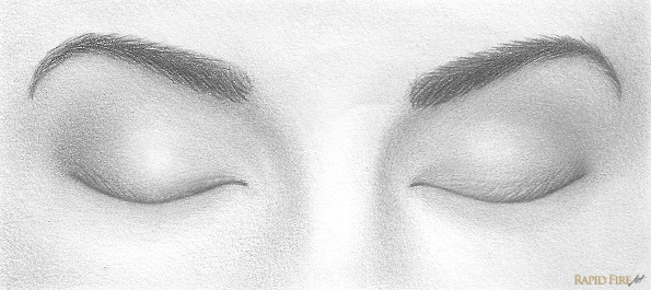 how to draw closed eyes rapidfireart