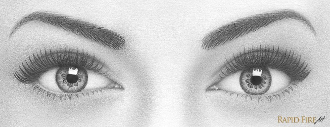 How to Draw a Pair of Realistic Eyes RapidFireArt