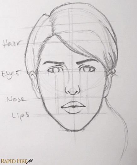 Drawing Hairlines : How to draw faces for beginners simple rapidfireart