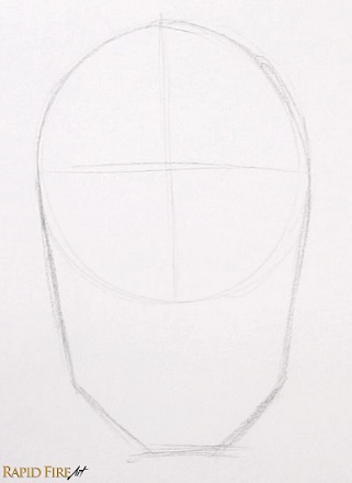 how to draw a male face for beginners