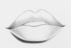 how to draw realistic lips 7
