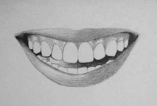 how to draw teeth step 5