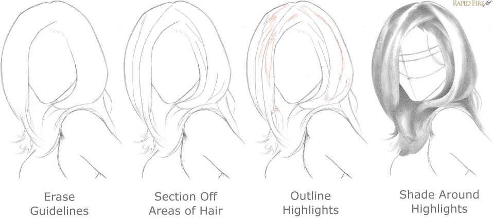 Outstanding How To Draw Realistic Hair The Ultimate Tutorial Rapidfireart Short Hairstyles Gunalazisus