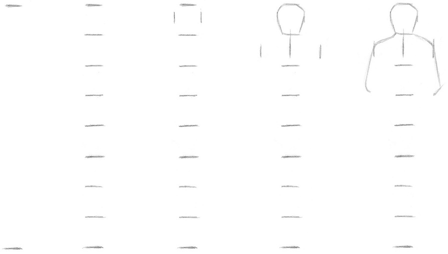 Drawing a person using measurement techniques 5