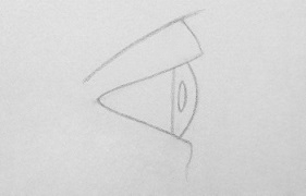 drawing eyes from the side step 4