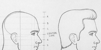 how to draw a face from the side thumbnail 324x235