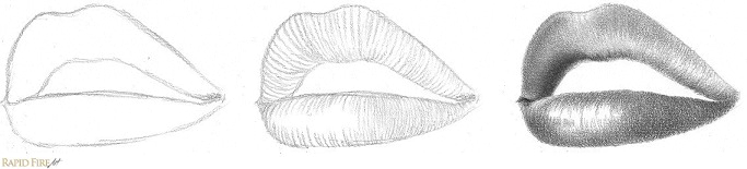 Contour Shading Example Lips RFA 3