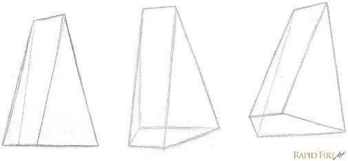 7 steps to draw a nose from the 3/4 view | RapidFireArt