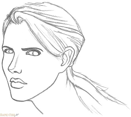 How to draw a female face 3 Quarter View RFA Step by step 7_2
