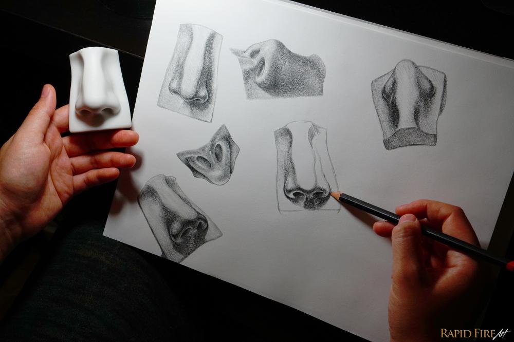 rapidfireart-nose-sculpture-art-study-2