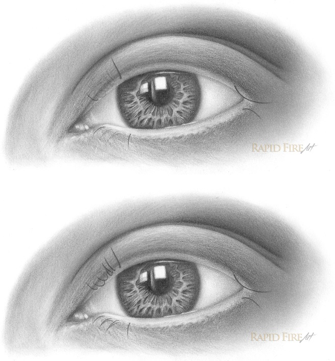 how to draw eyelashes step 2