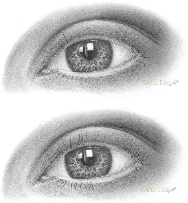 how to draw eyelashes step 3