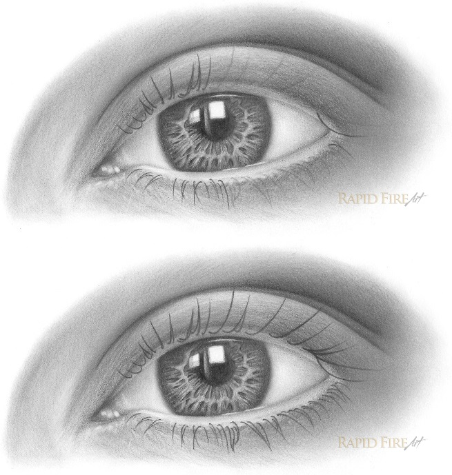 how to draw eyelashes step 4