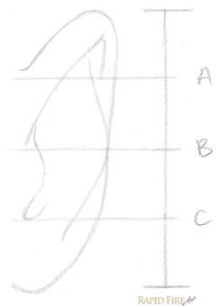 how to draw c curve when bigger