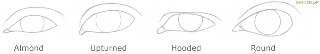 How to Draw Different Eye Shapes 8 RFA