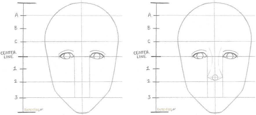 How to Draw a Female Face Step 4