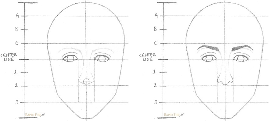How to Draw a Female Face Step 5