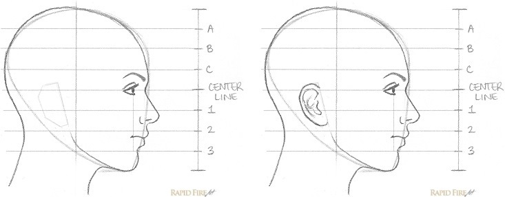 How to Draw a Female Face from the Side View Step 10